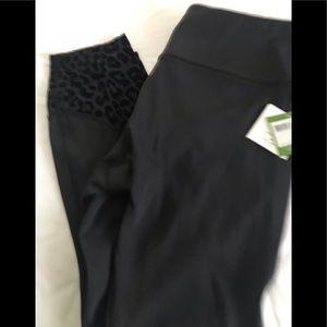 Kate spade black Leppard, spandex, workout, pants